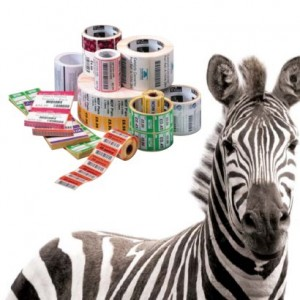 Zebra Replacement Labels